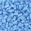 Miyuki Tila Half Cut 5X2.3mm 2Hole Light Blue Opaque Aurora Borealis Matte